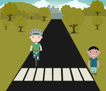 ciclista e peao