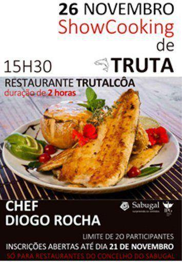 Showcooking de truta no Sabugal