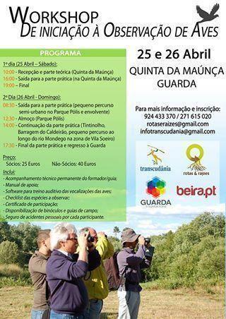 Workshop de iniciação à Observação de Aves na Quinta da Maúnça