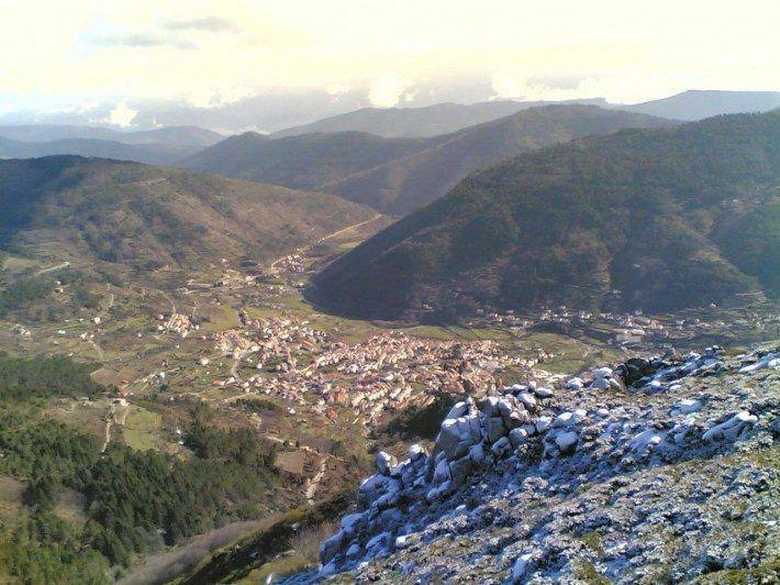 Fragão do Corvo, vista do Vale do Zêzere. Inverno. (LAC)