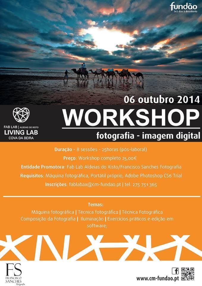 Workshop de fotografia – Imagem Digital no Fundão