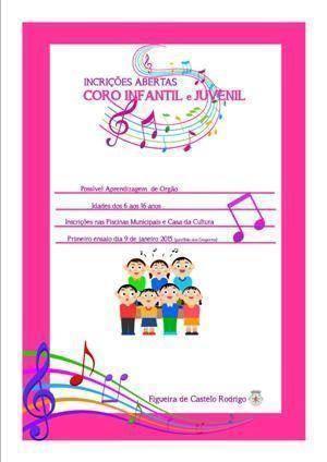 Inscrições para o Coro Infantil e Juvenil de Figueira de Castelo Rodrigo
