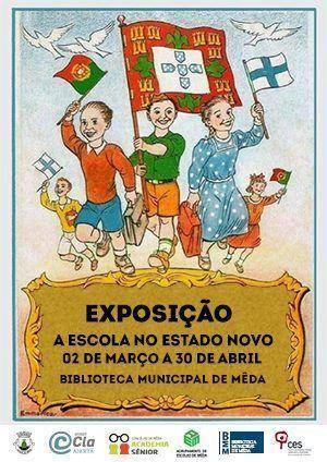 """c0ac03f47b Exposição """"A Escola no Estado Novo"""" em destaque na biblioteca da Mêda"""