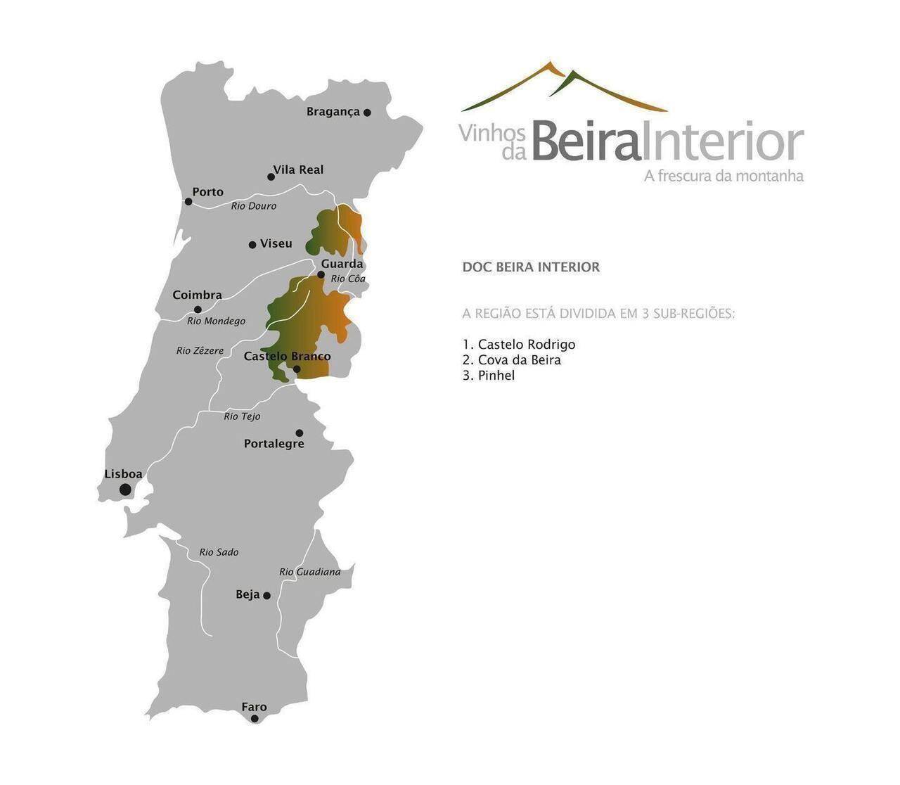 mapa de portugal beira interior Vinhos Beira Interior – A frescura da Montanha   beira.pt mapa de portugal beira interior