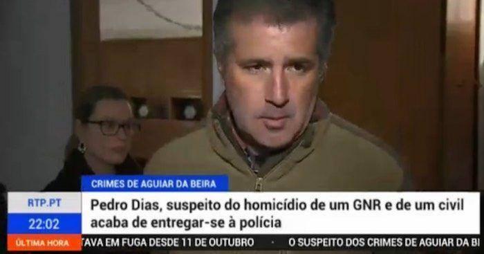 Pedro Dias entregou-se à PJ e foi detido durante direto ...
